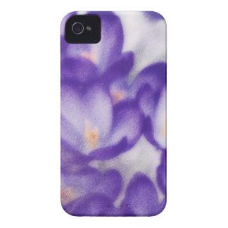 Lavender Crocus Flower Patch iPhone 4 Case