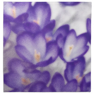 Lavender Crocus Flower Patch Napkin