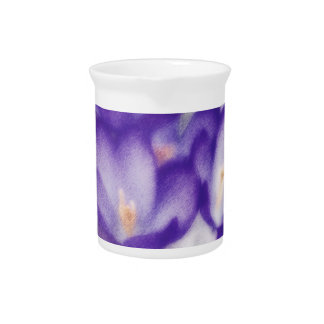Lavender Crocus Flower Patch Pitcher