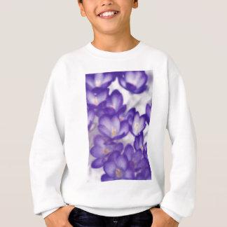 Lavender Crocus Flower Patch Sweatshirt