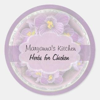 lavender crocus jar labels 1 small round sticker
