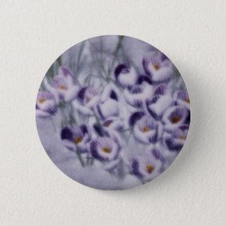 Lavender Crocus Patch 6 Cm Round Badge
