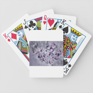 Lavender Crocus Patch Bicycle Playing Cards