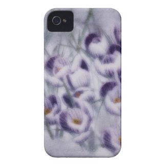 Lavender Crocus Patch iPhone 4 Covers