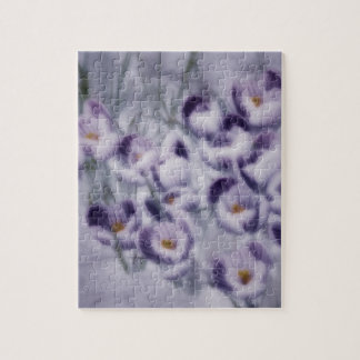 Lavender Crocus Patch Jigsaw Puzzle