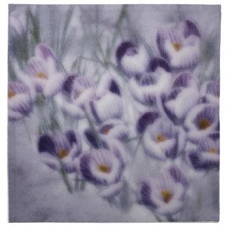 Lavender Crocus Patch Napkin