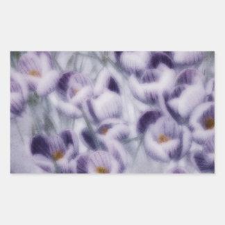 Lavender Crocus Patch Rectangular Sticker
