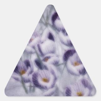 Lavender Crocus Patch Triangle Sticker