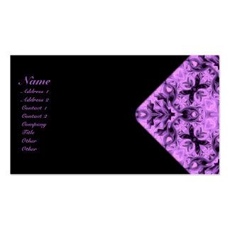 Lavender Crosses Kaleidoscope Business Cards