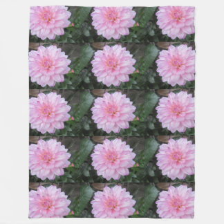 Lavender Dahlia Flower Fleece Blanket