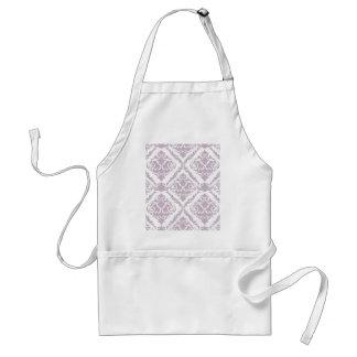 lavender ,damask, pattern,trendy,girly,cute,chic, standard apron