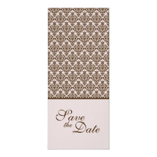 lavender damask save the date 10 cm x 24 cm invitation card