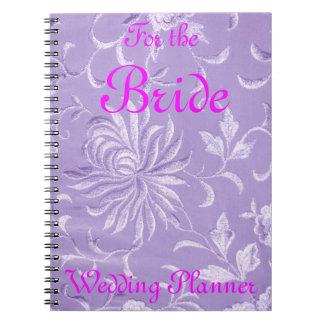 Lavender Damask Wedding Planner Notebook