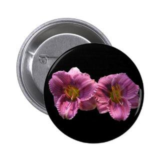 Lavender Day Lilies button