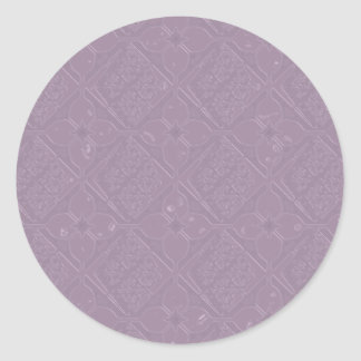 Lavender Diamond and Floral Tone on Tone Stickers