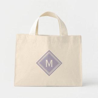 Lavender Diamond Monogram Mini Tote Bag