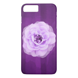 Lavender Diamond Rose Purple Grunge iPhone 8 Plus/7 Plus Case