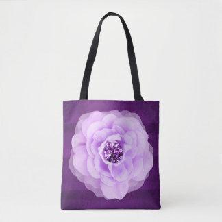 Lavender Diamond Rose Purple Grunge Tote Bag