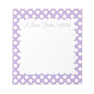 Lavender Dotty Polka Dots Notepad