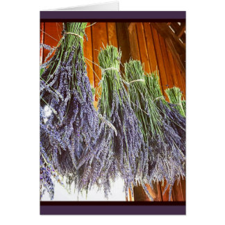 Lavender Drying in a Barn Card