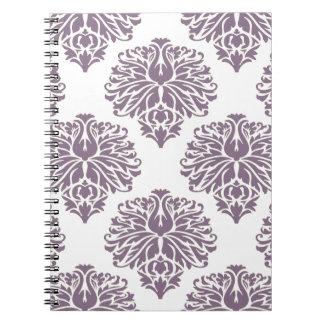 Lavender Elegant Damask Note Books