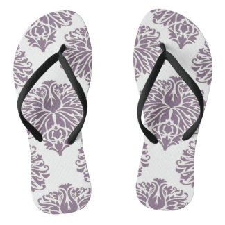 Lavender Elegant Damask Thongs