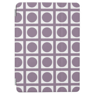 Lavender Elegant Grid Dots iPad Air Cover