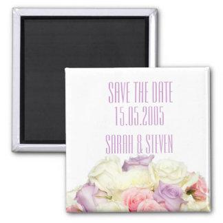 Lavender Elegant Rose Bouquet Save the date Refrigerator Magnet