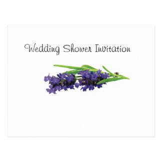 Lavender Favors Ideas, Wedding Shower Theme Postcard