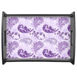 Lavender, Feather, Purple, Feathers, Elegant Serving Tray