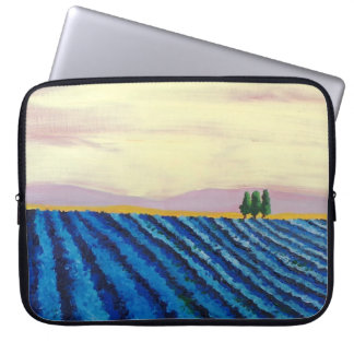 Lavender Field (French Landscape) - K.Turnbull Art Laptop Sleeve