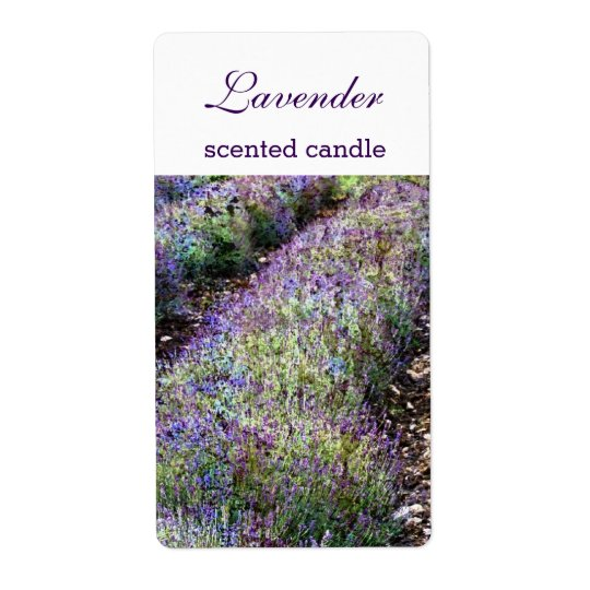 lavender field scented candlecustomized label