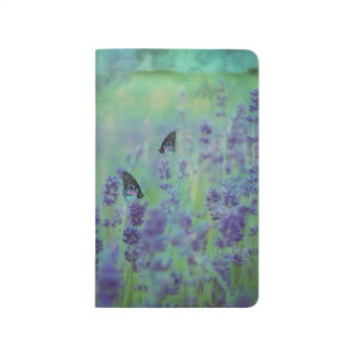 Lavender Field with Butterflies Customizable Journal