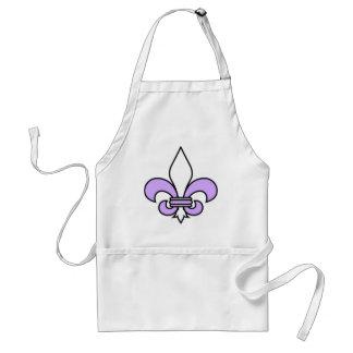Lavender fleur de lis adult apron