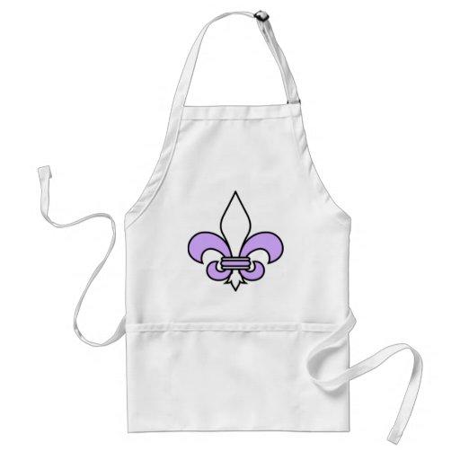 Lavender fleur de lis apron