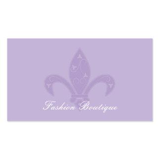Lavender Fleur de Lis Boutique Double-Sided Standard Business Cards (Pack Of 100)