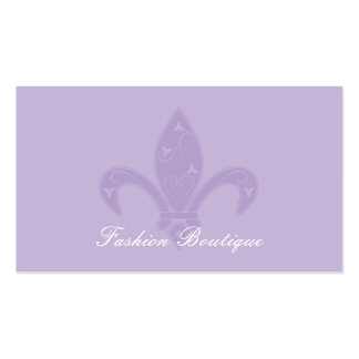 Lavender Fleur de Lis Boutique Pack Of Standard Business Cards