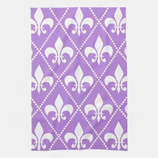 Lavender Fleur de Lis Tea Towel