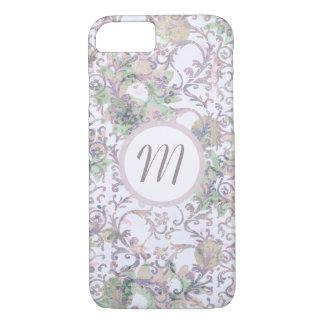 Lavender Floral Damask iPhone 8/7 Case