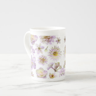 Lavender Floral Deco Bone China Tea Cup