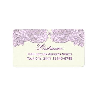 Lavender Floral Lace Vintage Design Address Label