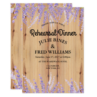 Lavender Floral Rehearsal Dinner Invitation