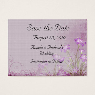 Lavender Floral Save the Date Card
