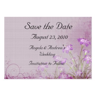 Lavender Floral Save the Date Card Pack Of Chubby Business Cards