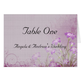 Lavender Floral Table Seating Card
