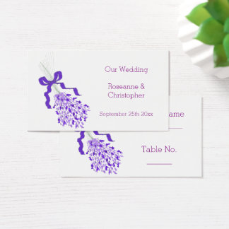 Lavender Floral Wedding Place Setting Card