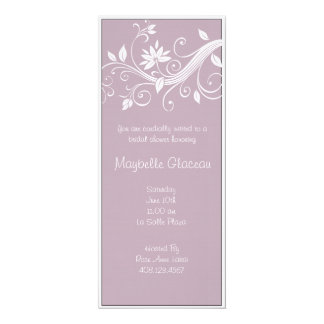 Lavender Flower Bridal Shower 10 Cm X 24 Cm Invitation Card