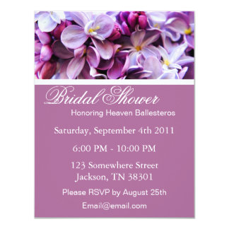 Lavender Flower Bridal Shower Invitations