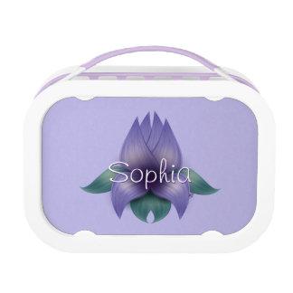 Lavender Flower on Lavender Lunchbox