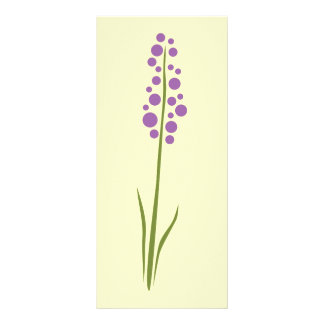 Lavender Flower Rack Card